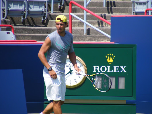 Photos: Nadal Practicing at Rogers Cup 2013
