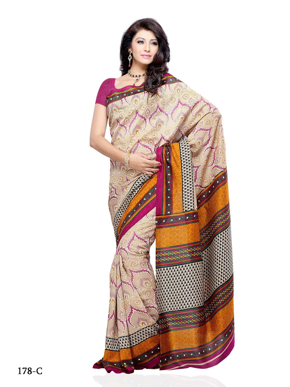 Online Shop Rs Online Shopping Jacquard And Brasso Saree Rs 1700