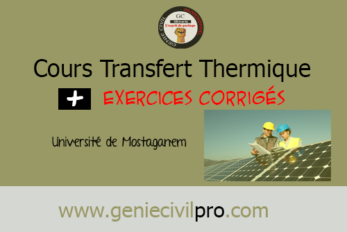 exercices d'application transfert thermique