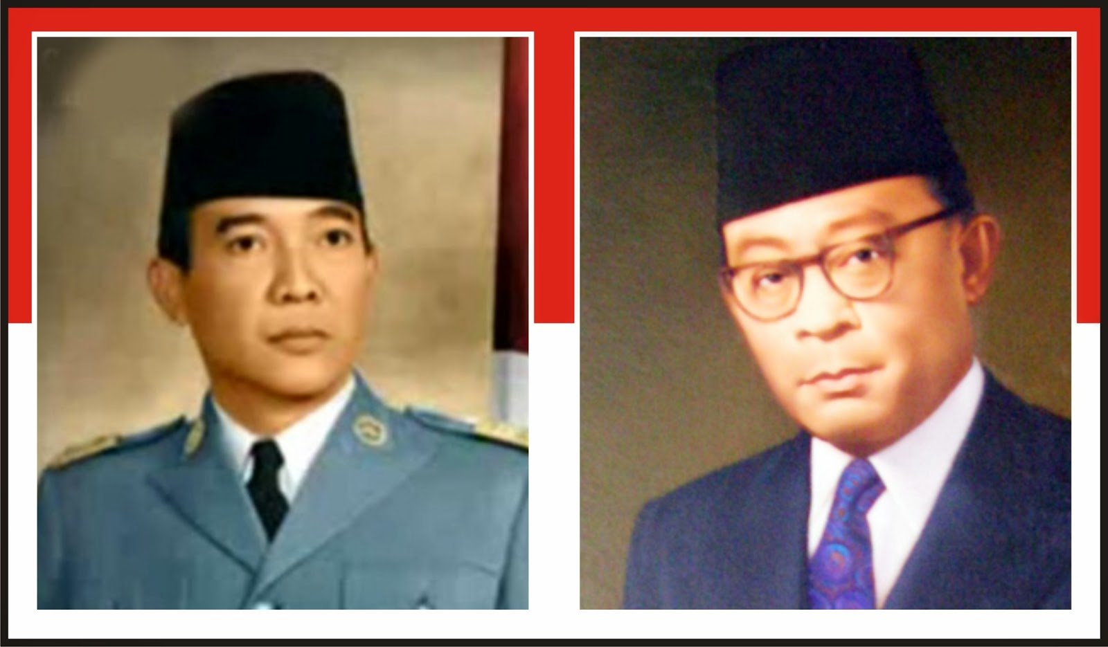 Gambar Presiden Soekarno dan Moh. Hatta