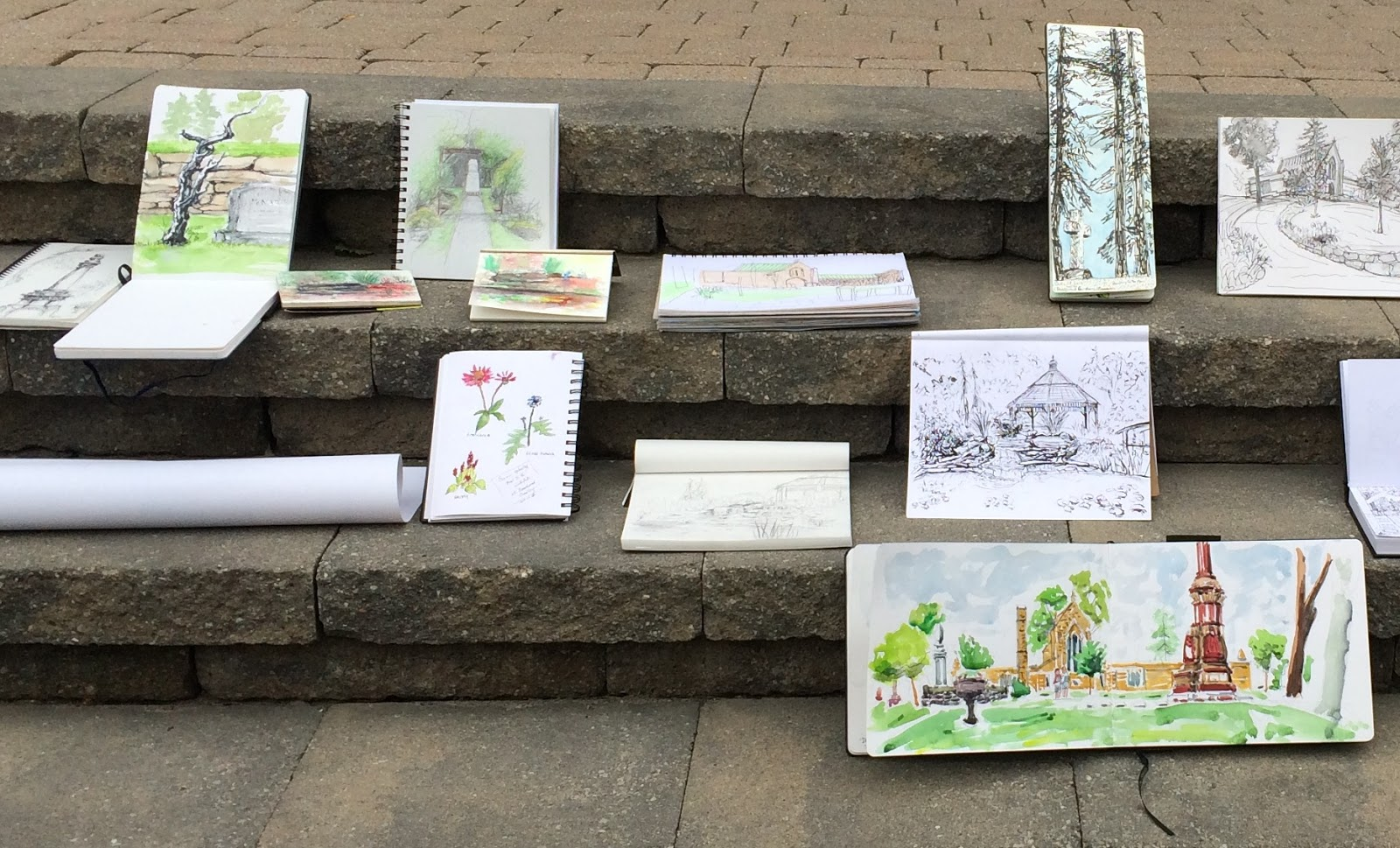 Ottawa urban sketchers a beautiful day sketching at for The beechwood