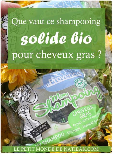 Shampoing solide à l'argile verte de Secrets en Provence