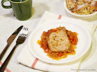 Friptura de porc cu ceapa si rosii