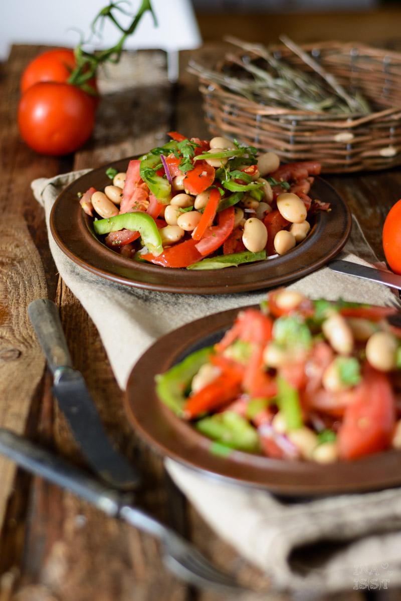 Tomatensalat mit weißen Riesenbohnen und Paprika, Hey Chimi, Dipster