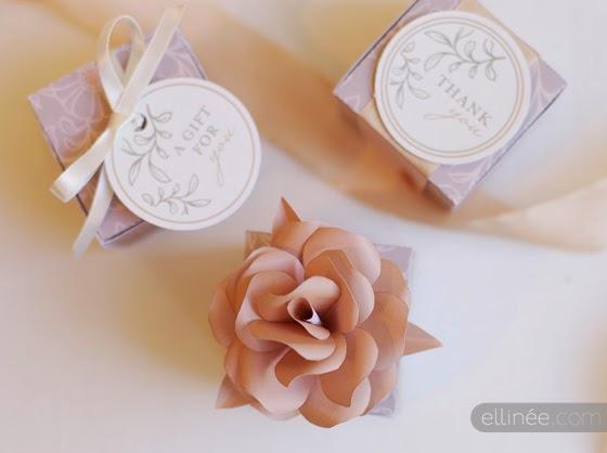 Cajas imprimibles gratuitas bonitas y elegantes con plantilla