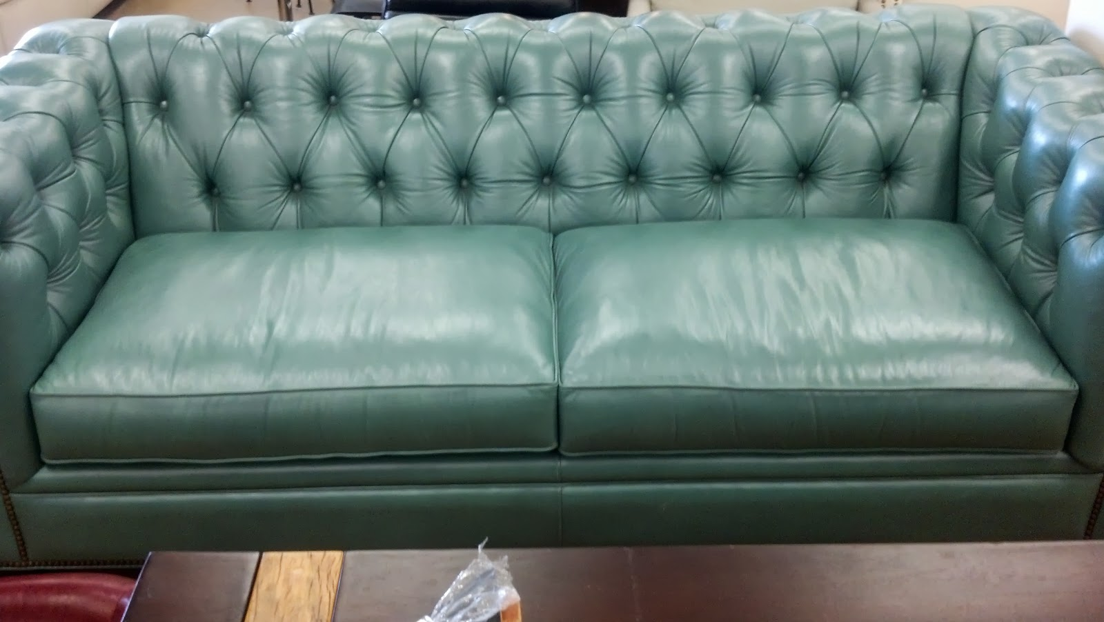 Aqua Leather Sofa Twin Palms Koko Leather Sofa Lexington