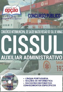 Apostila Concurso Cissul-MG Auxiliar Administrativo
