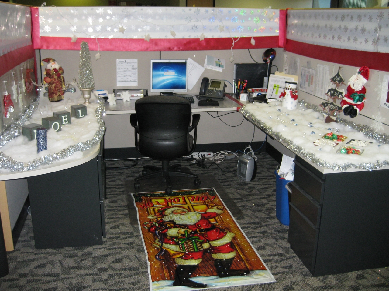 Home priority compact office cubicle decoration with Cubicle desk decorating ideas