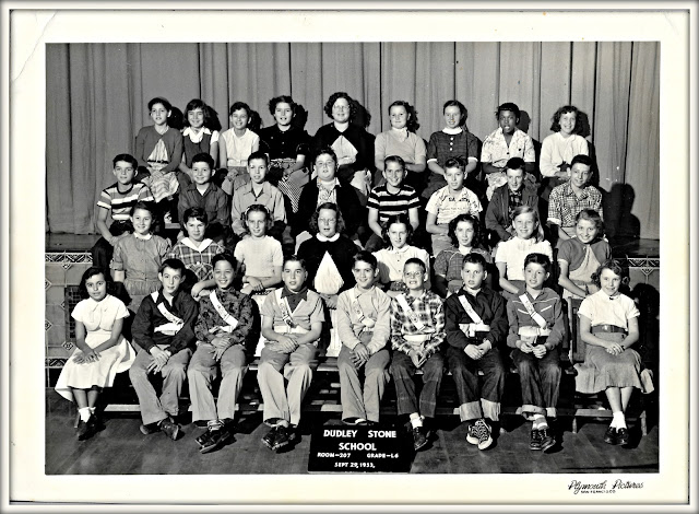 Dudley Stone School class photo, Room 207, Grade 6, September 29 1953