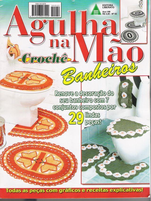 Agulhas Na Mão Crochê-Revista Crochê Banheiros