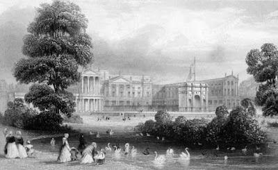 Buckingham Palace and St James's Park  from Illustrated London by WI Bicknell (1847)