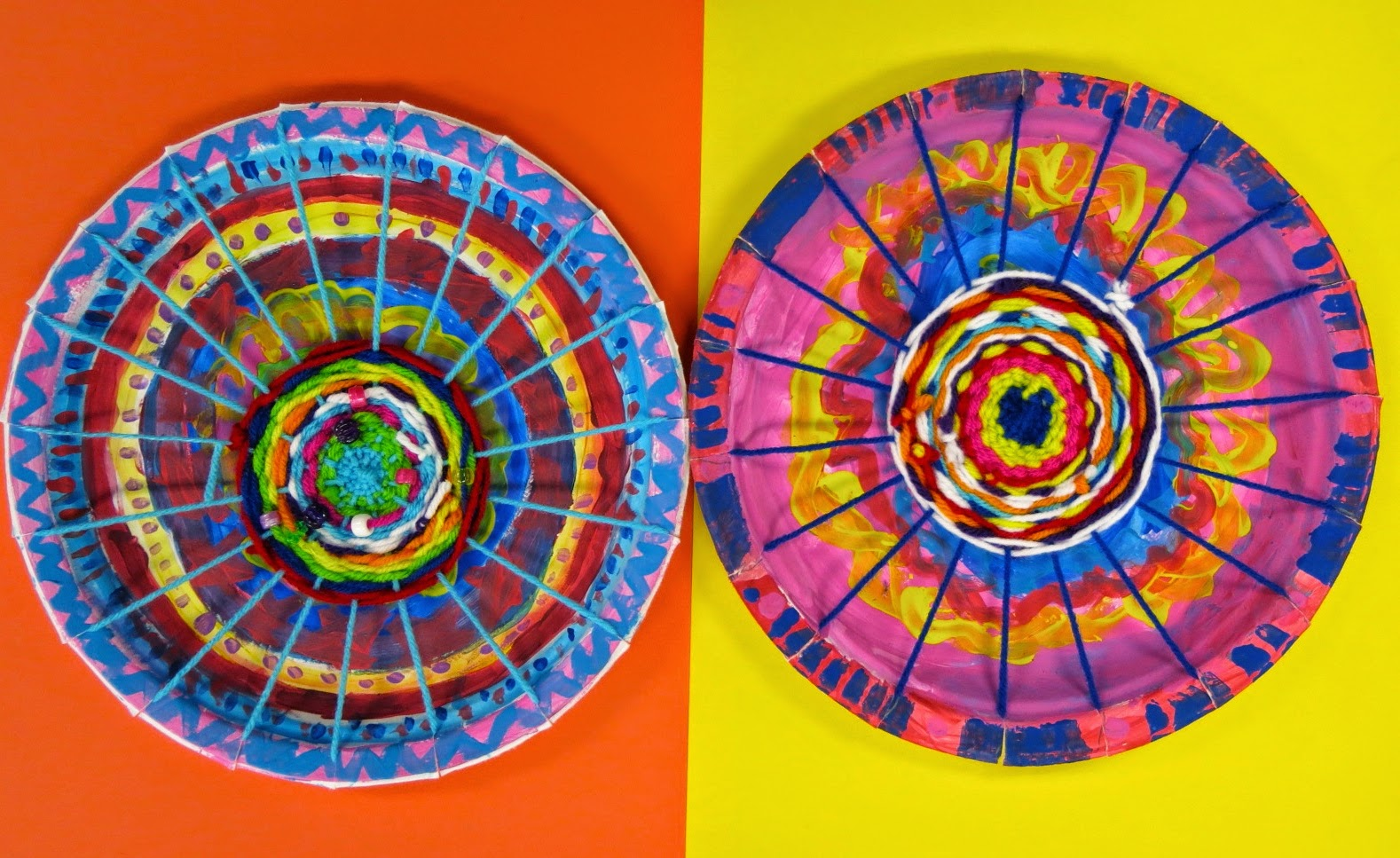 Color wheel art lesson for second grade - Cassie Stephens In The Art Room Circle Loom Weaving With Second Grade
