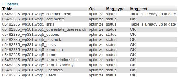 Cara Optimasi Database Melalui PHPMyadmin