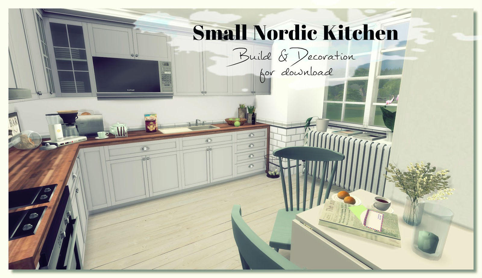 Sims 4 Small Nordic Kitchen Room Mods For Download