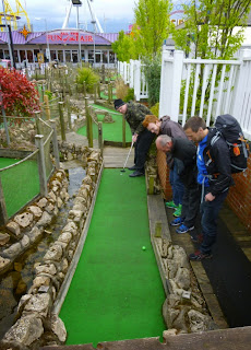 Playing Adventure Golf on National Miniature Golf Day 2015