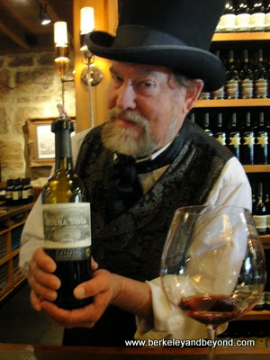 The Count pours for wine tasting at Buena Vista Winery in Sonoma, California