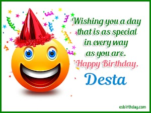 Happy Birthday Desta