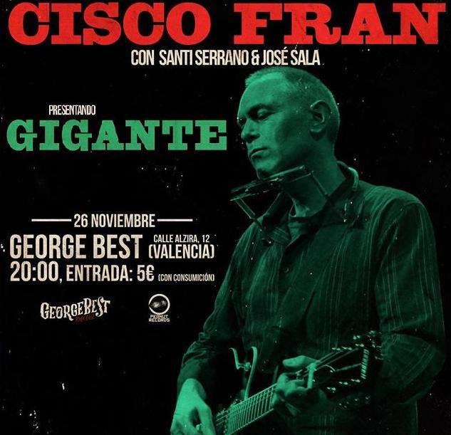 Cisco Fran presentación 'Gigante' en George Best Club