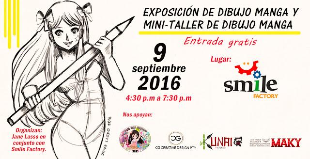 Afiche de la exposición de dibujo manga