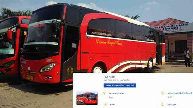 Jadwal Bus Damri Palembang