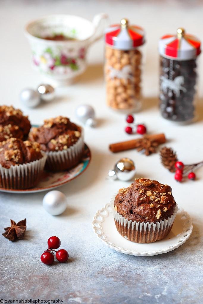 Christmas muffin con uvetta e scorzette d'arancia