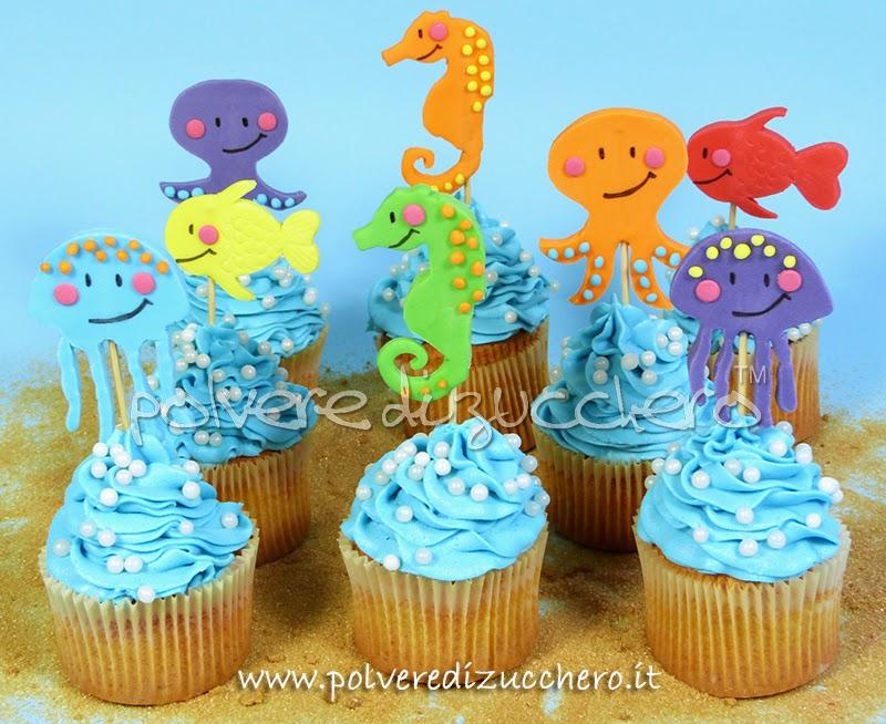 Tutorial cupcakes dell 39 estate con soggetti marini medusa for Immagini di cavalluccio marino