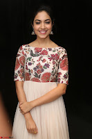 Ritu Varma smiling face Cream Anarkali dress at launch of OPPO New Selfie Camera F3 ~  Exclusive 046.JPG