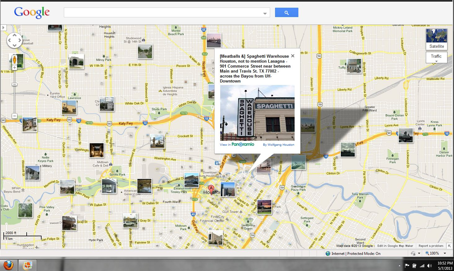 Houston in Pics: Spaghetti Warehouse on Buffalo Bayou across from UH ...