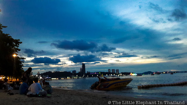 Evening at the beach of Pattaya - Thailand