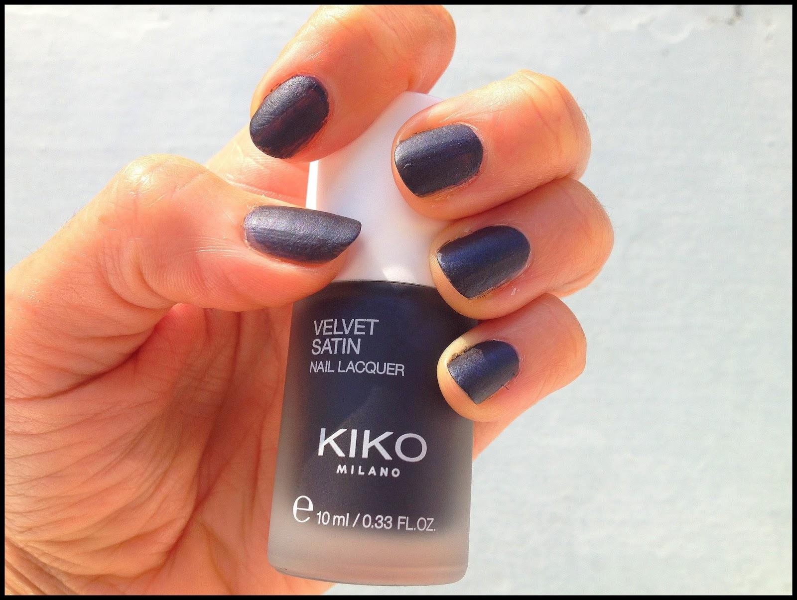 Beaut blog by misskikaw velvet satin nail lacquer n 697 - Couleur noir bleute ...