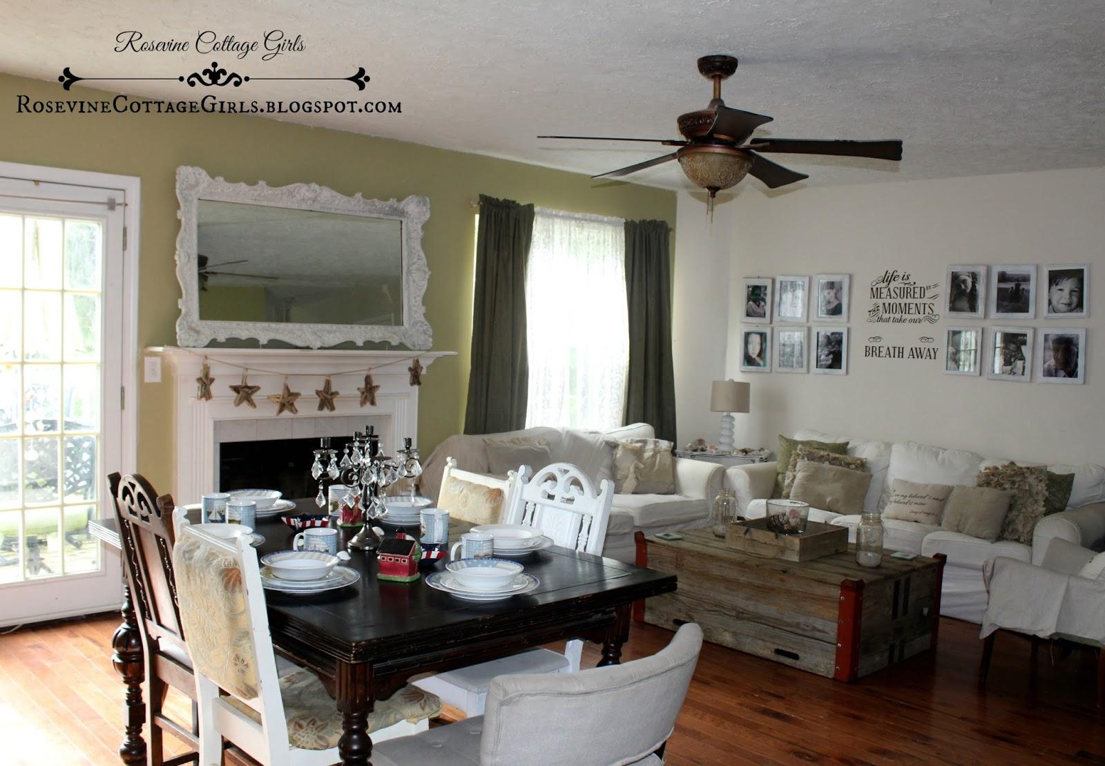 rosevine cottage girls living room reveal