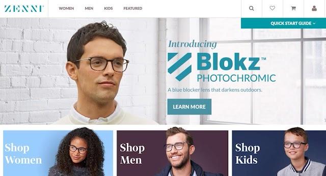 موقع ZENNI الأمريكي للنظارات الطبية