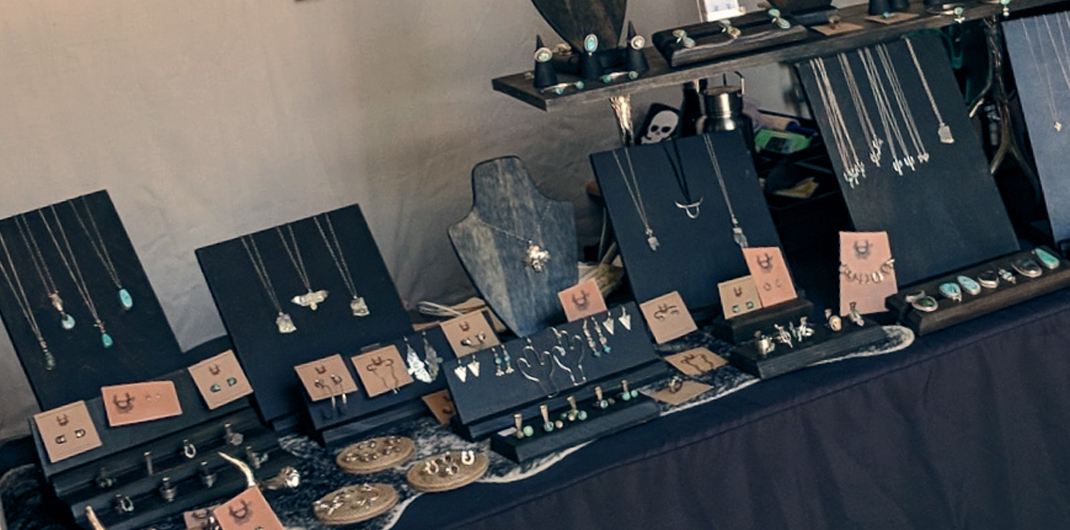 High and Dry set up for a jewelry show