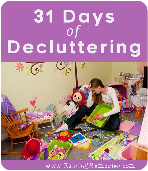 One Month Decluttering Challenge by www.RaisingMemories.com