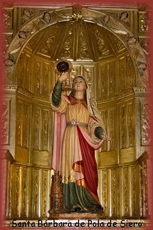 Santa Bárbara de la iglesia de Pola de Siero