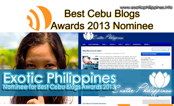 Exotic Philippines - Nominee for Best Cebu Blogs Awards 2013