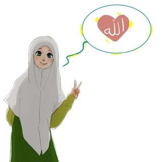 kartun muslimah lucu, gambar kartun islami