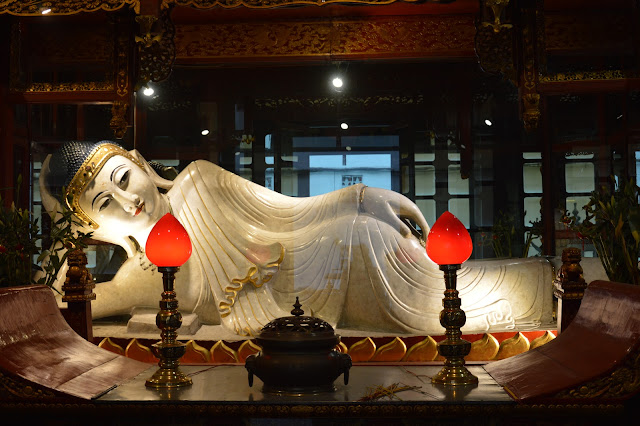 Buddha allongé au Buddha Jade Temple à Shanghai