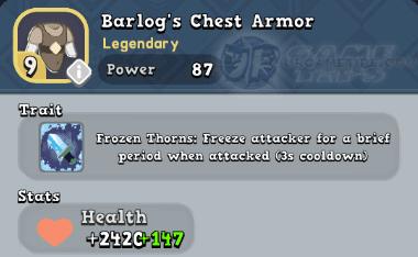 World of Legends: Barlog's Chest Armor