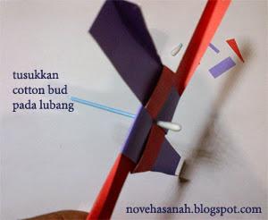 cara membuat kincir angin kertas dengan teknik melipat