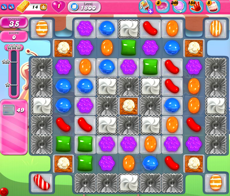 Candy Crush Saga 1800