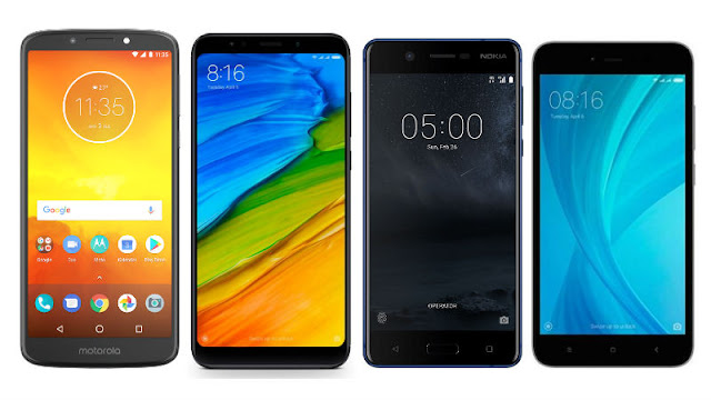 Moto E5 vs Xiaomi Redmi Note 5 vs Nokia 5 vs Redmi Y1: Prices, Specifications, Features Compared