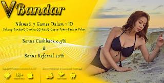 Bonus Cashback 2x Judi BandarQ Online VBandar99.com - www.Sakong2018.com