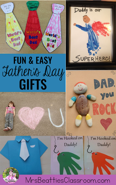 Celebrate Dad, or any special man, on Father's Day with these adorable gift and craft ideas. All these ideas are inexpensive and easy for creation at home or in the classroom!