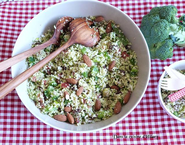 Taboulé de brocoli cru savoureux et gourmand - Dans la cuisine d'Hilary