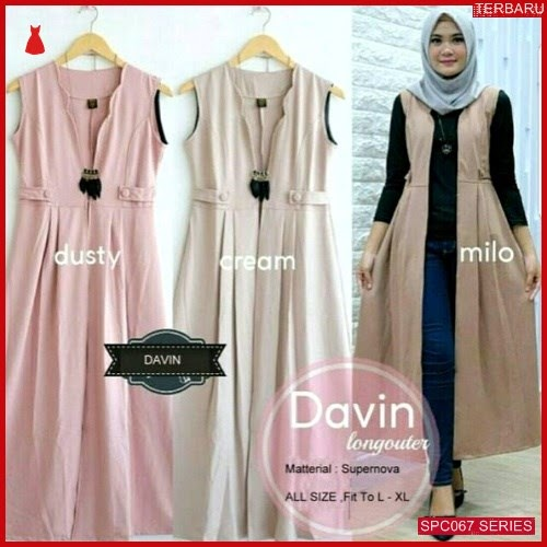 SCP067D47 Davin Long Terbaru Outer Dress Muslim Wanita | BMGShop