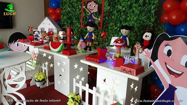 Festa infantil decorada com o tema Show da Luna