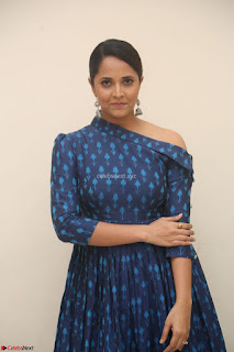 Anchor Anasuya in a Blue Gown at Jai Lava Kusa Trailer Launch ~  Exclusive Celebrities Galleries 019.JPG