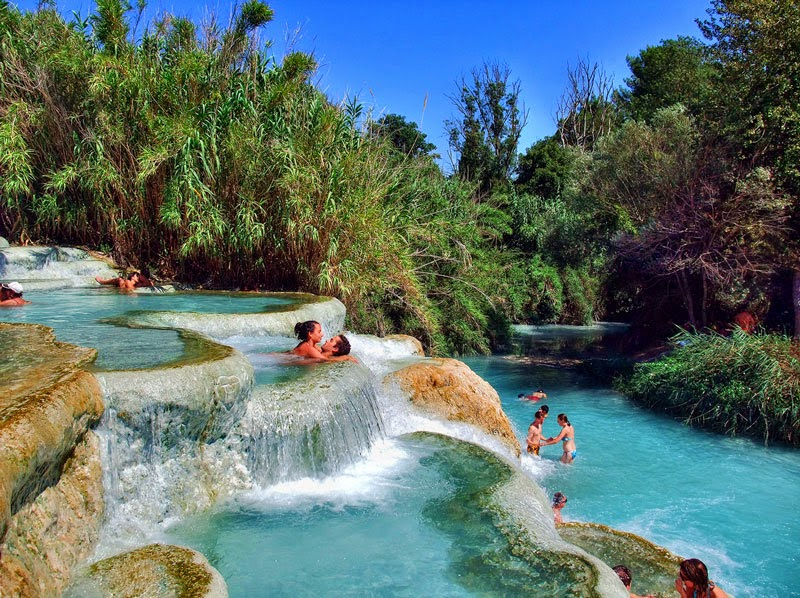 2. Saturnia, Italy - 5 of the Most Relaxing Natural Baths in The World