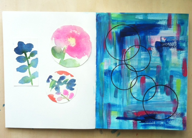 2x2 Sketchbook, #2x2sketchbook, Anne Butera, Dana Barbieri, sketchbooks, collaborative art
